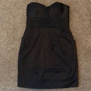 2b bebe little black pleated cocktail dress size L